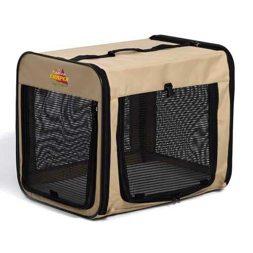 "Canine Camper Day Tripper-Single Door-Folding Soft Crate-42"" from MidWest"