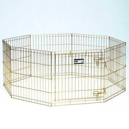 Gold Zinc Pet Exercise Pen - 24 in. (540-24) from MidWest
