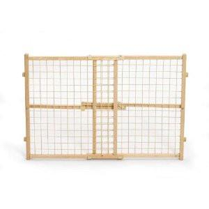 "High Wire Mesh Wood gate 29"" - 41.5"" x 24"" from Midwest"
