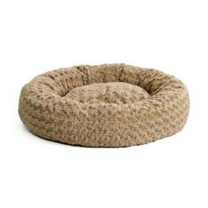 "Quiet Time Deluxe Bagel Bed Taupe Ombré Swirl 28.5"" x 28.5"" x 8"" from Midwest"