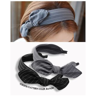 Bow Wide Hair Band from Miss21 Korea