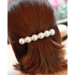 Faux-Pearl Hair Barrette One Size from Miss21 Korea