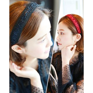 Lace Wide Hair Band from Miss21 Korea