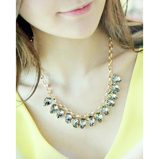 Rhinestone Pendent Necklace from Miss21 Korea