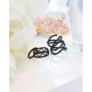Set of 3: Openwork Ring from Miss21 Korea