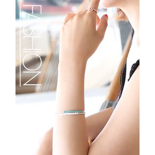 Two-Tone Beads Bracelet from Miss21 Korea