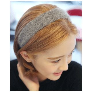 Wide Knit Hair Band from Miss21 Korea