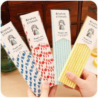 Patterned Drinking Straws from Momoi