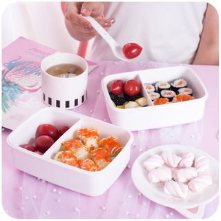 Printed Lunch Box with Fork from Momoi