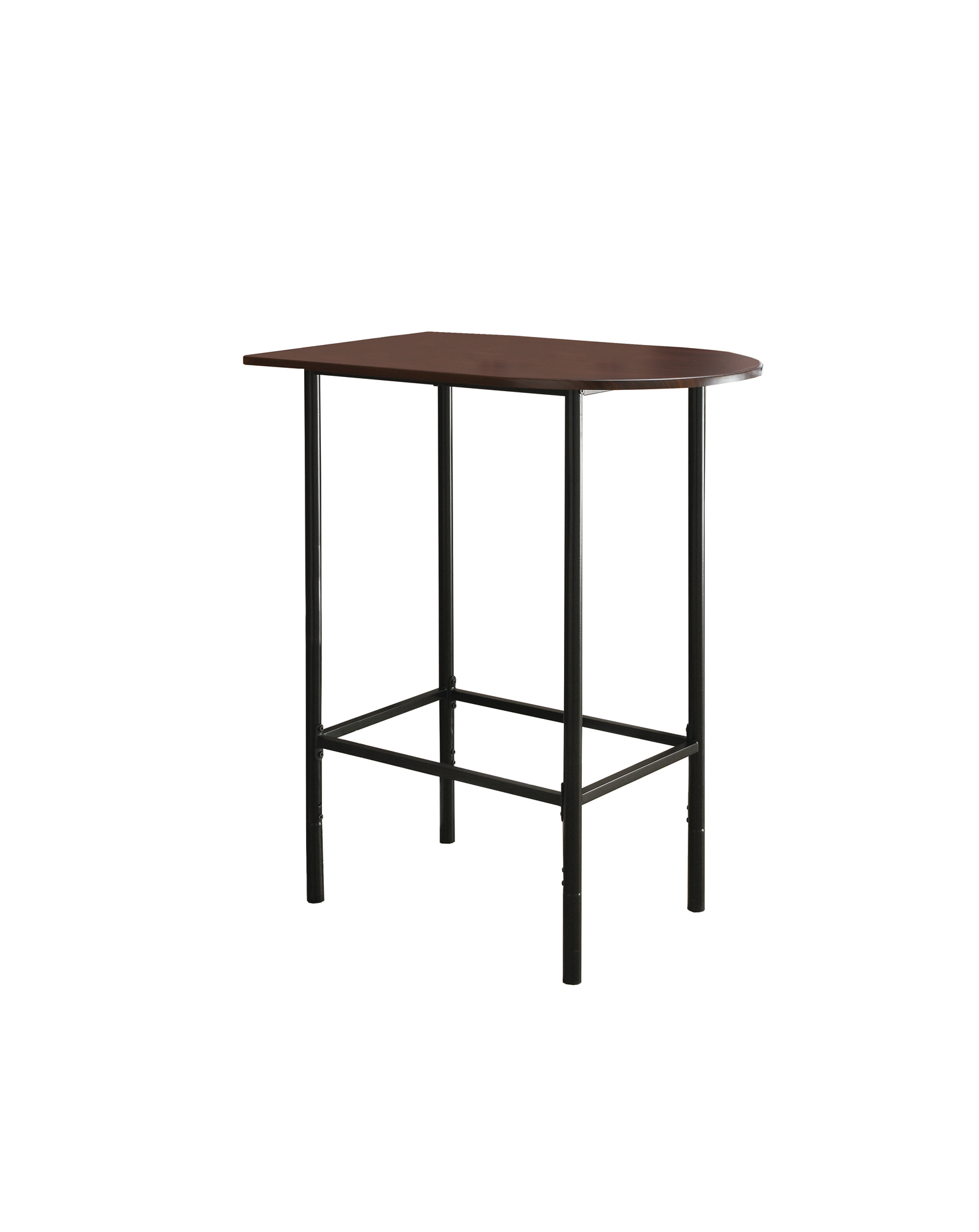 "Monarch 36"" x 24"" Rectangular Space Saver Wood Grain Top Metal Framed Home Bar Height Table - Cappuccino Brown / Black Finish from Monarch"
