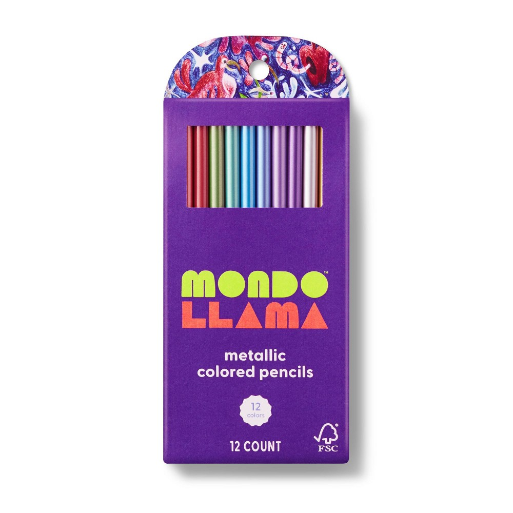 12ct Colored Pencils Metallic - Mondo Llama from Mondo Llama