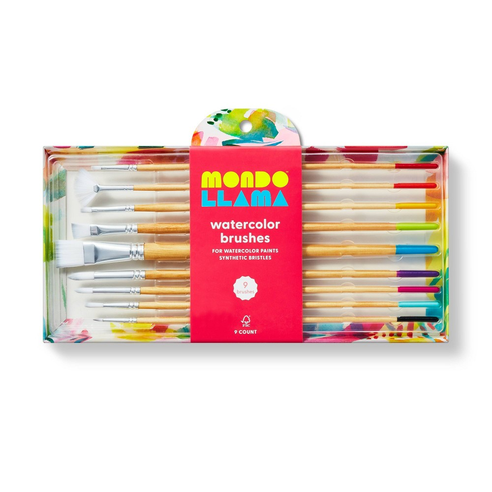 9ct Watercolor Brushes - Mondo Llama from Mondo Llama