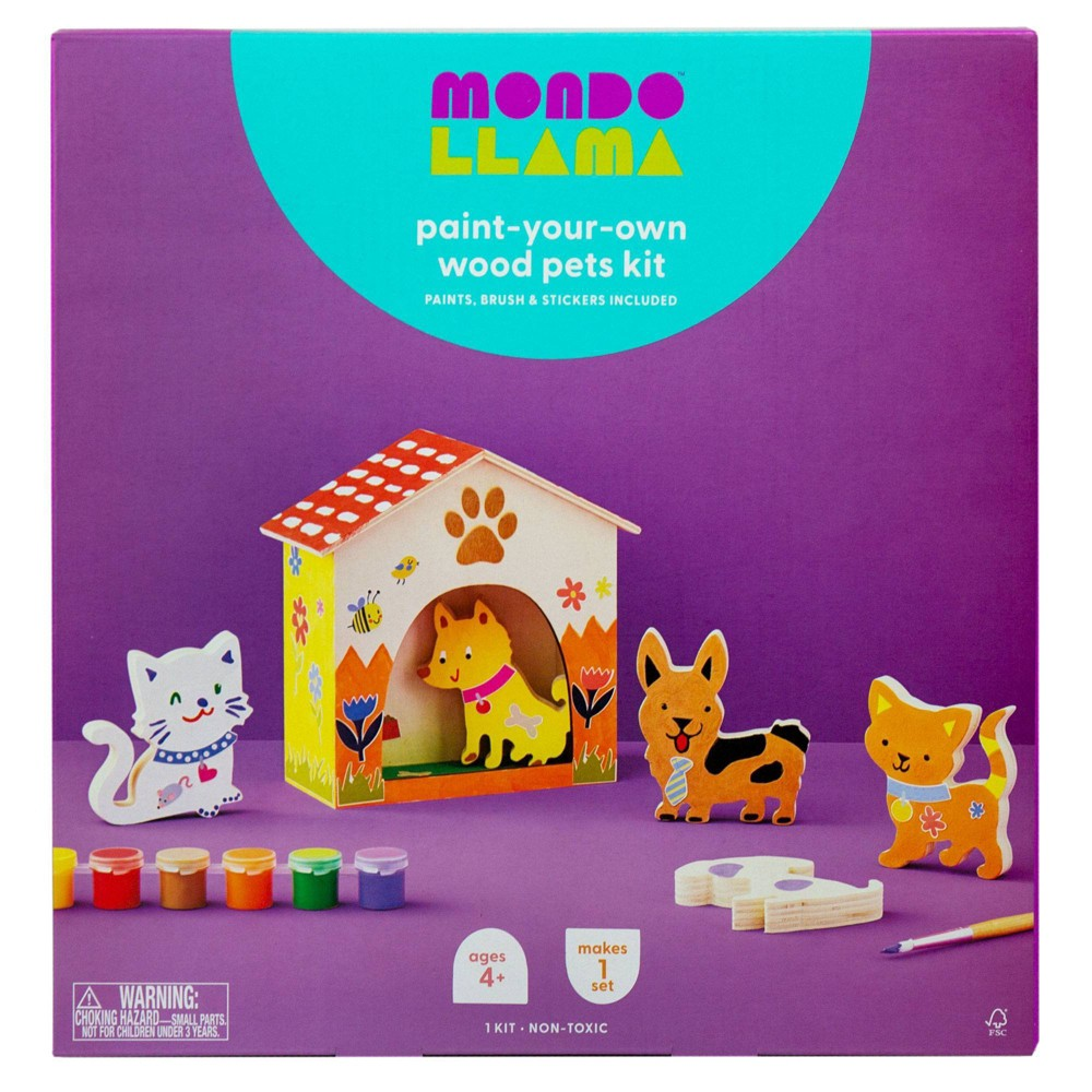 Paint-Your-Own Wood Pets Kit - Mondo Llama from Mondo Llama