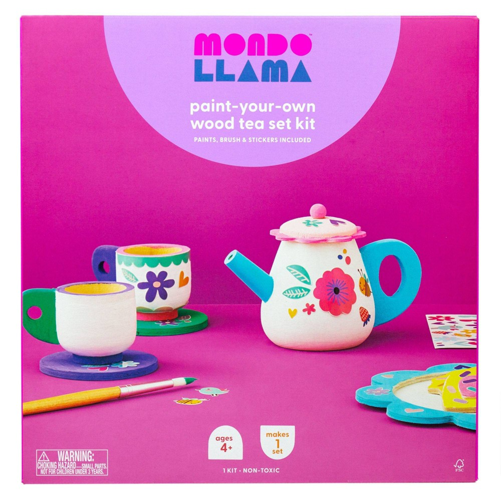 Paint-Your-Own Wood Tea Set Kit - Mondo Llama from Mondo Llama