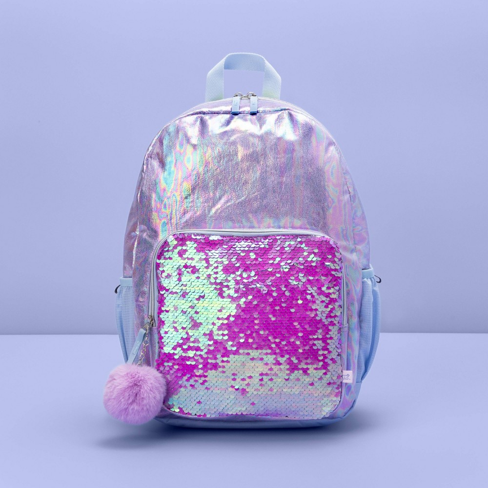 "17"" Kids' Backpack Flip Sequin Purple - More Than Magic from More than Magic"