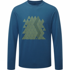 Mens Zig Zag Long Sleeve Tee from Mountain Equipment