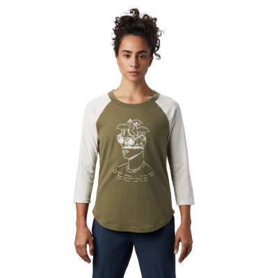 Mountain Hardwear Women's Head in the Clouds  Raglan 3/4 T-Shirt- from Mountain Hardwear