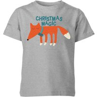Christmas Magic Kids' T-Shirt - Grey - 7-8 Years - Grey from My Little Rascal