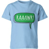 My Little Rascal Dinosaur Rawr! Kids' T-Shirt - Light Blue - 5-6 Years - Light Blue from My Little Rascal