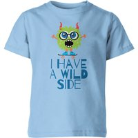 My Little Rascal I Have A Wild Side Kids' T-Shirt - Light Blue - 5-6 Years - Blue from My Little Rascal