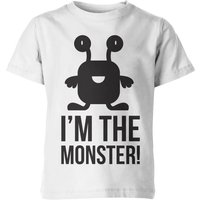 My Little Rascal Kids Im the Monster! White T-Shirt - 9-10 Years - Green from My Little Rascal
