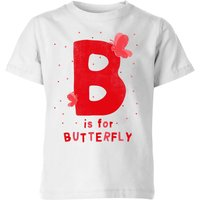 My Little Rascal B Is For Butterfly Kids' T-Shirt - White - 7-8 Years - White from My Little Rascal