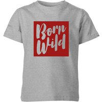 My Little Rascal Born Wild Kids' T-Shirt - Grey - 3-4 Years - Grey from My Little Rascal