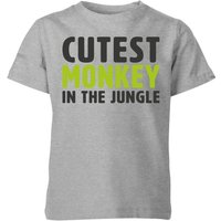 My Little Rascal Cutest Monkey In The Jungle Kids' T-Shirt - Grey - 7-8 Years - Grey from My Little Rascal