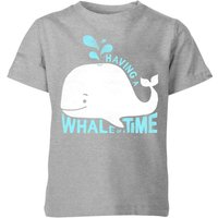My Little Rascal Having A Whale Of A Time Kids' T-Shirt - Grey - 7-8 Years - Grey from My Little Rascal