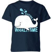My Little Rascal Having A Whale Of A Time Kids' T-Shirt - Navy - 11-12 Years - Navy from My Little Rascal