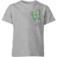 My Little Rascal Pocket Butterflies Kids' T-Shirt - Grey - 11-12 Years - Grey from My Little Rascal