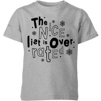 The Nice List Is Overrated Kids' T-Shirt - Grey - 7-8 Years - Grey from My Little Rascal