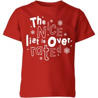 The Nice List Is Overrated Kids' T-Shirt - Red - 3-4 Years - Red from My Little Rascal