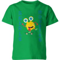 My Little Rascal Kids Gnarly Monster Green T-Shirt - 11-12 Years - Green from My Little Rascal