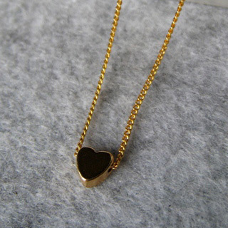 Golden Little Heart Short Necklace from MyLittleThing