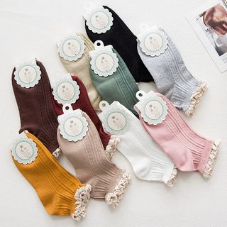 Lace Trim Socks from NANA Stockings
