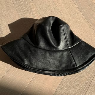 Pleather Bucket Hat Black - One Size from NANING9