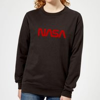NASA Worm Logotype Women's Sweatshirt - Black - XXL - Black from NASA