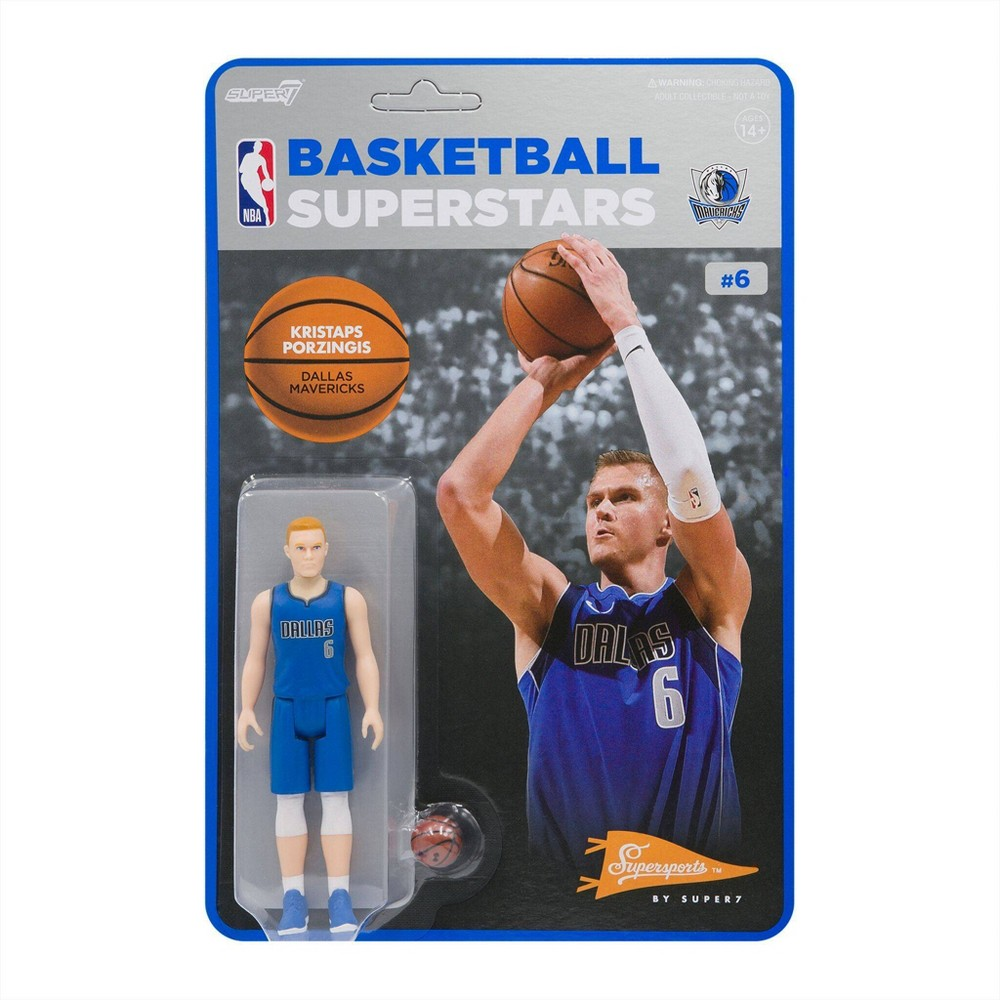 "NBA Dallas Mavericks 3.75"" ReAction Action Figure - Kristaps Porzingis from NBA"