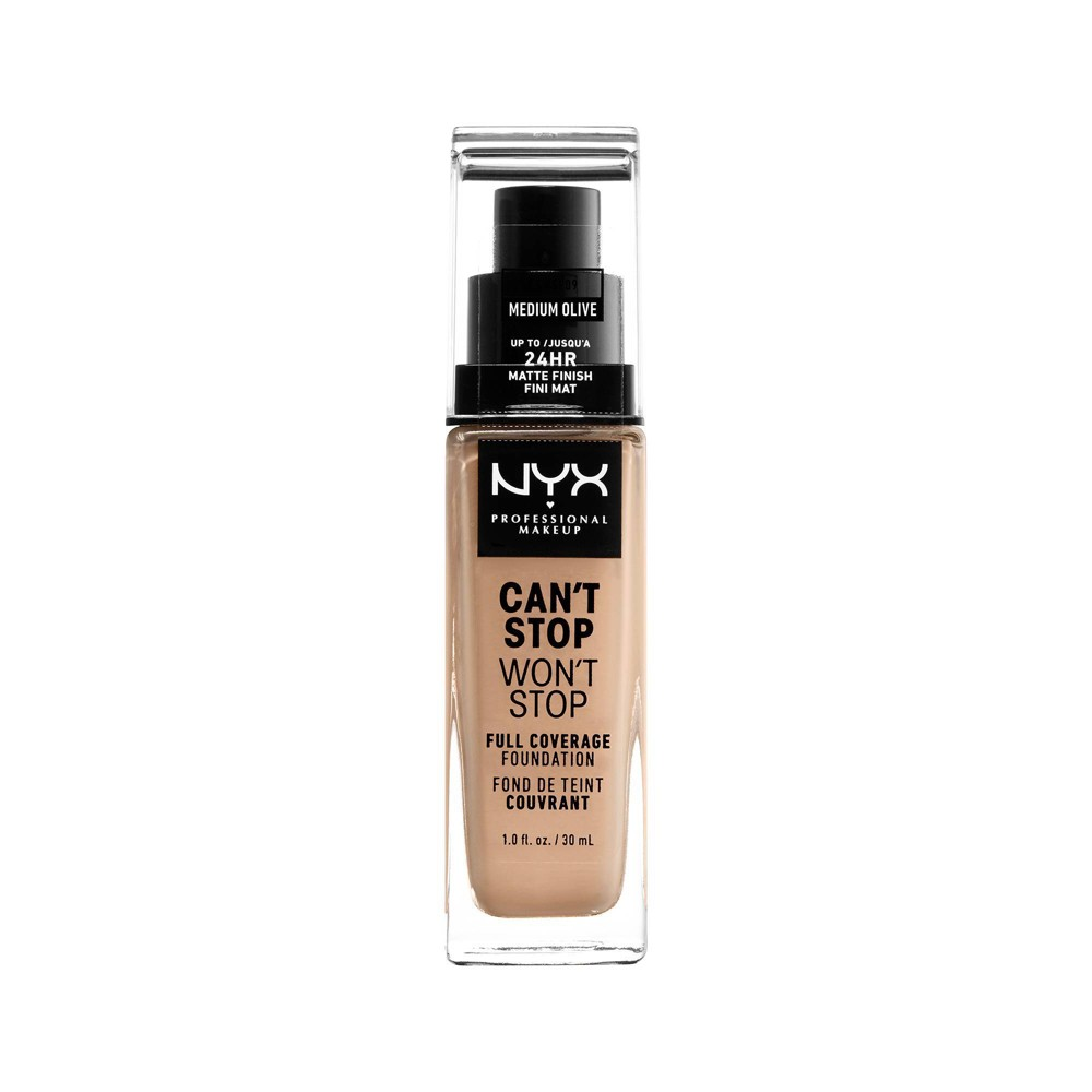 NYX Professional Makeup Can't Stop Won't Stop Full Coverage Foundation - Medium Olive - 1.3 fl oz from NYX Professional Makeup