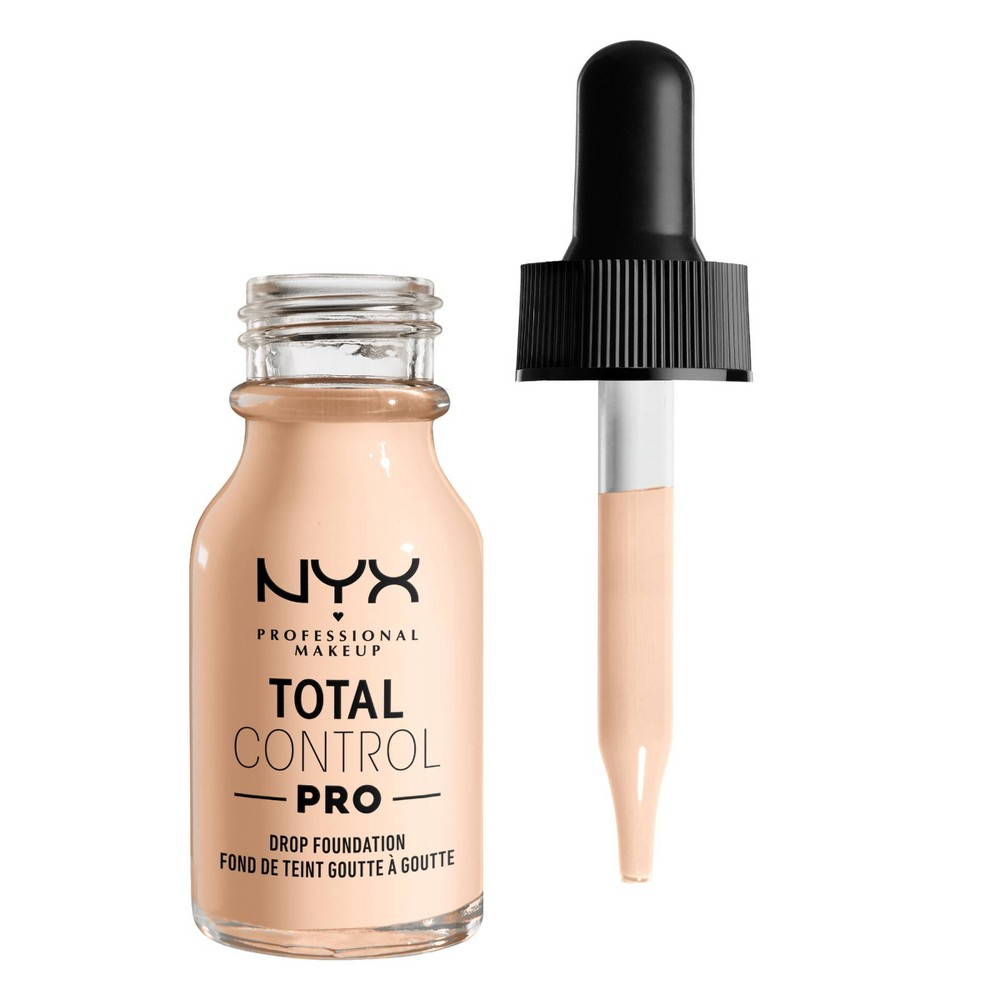 NYX Professional Makeup Total Control Pro Drop Foundation Skin-true buildable Coverage - 0 Light Pale - 0.43 fl oz from NYX Professional Makeup