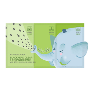 NATURE REPUBLIC - Blackhead Clear 3-Step Nose Pack from NATURE REPUBLIC