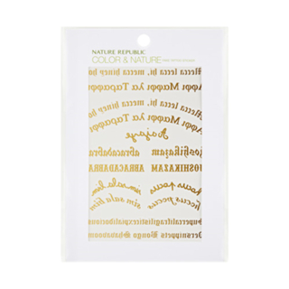 NATURE REPUBLIC - Color & Nature Fake Tattoo Sticker (#01 Gold Lettering) from NATURE REPUBLIC