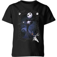 The Nightmare Before Christmas Jack Skellington Zero Pose Kids' T-Shirt - Black - 11-12 Years - Black from Disney