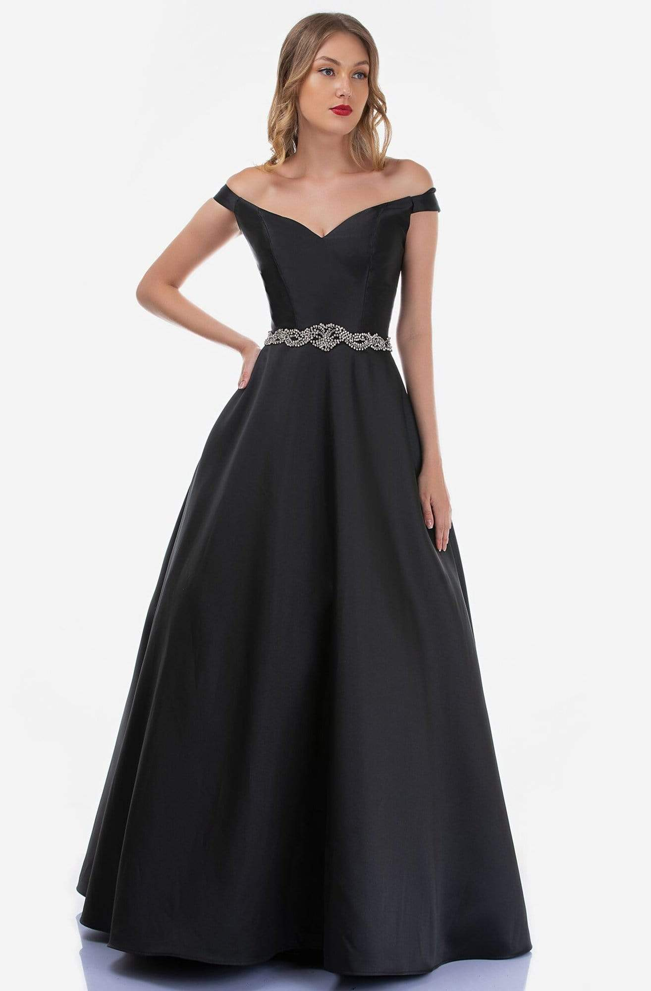 Nina Canacci - 2258 Off-Shoulder A-line Long Dress from Nina Canacci