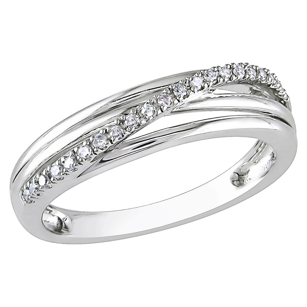 Women's Diamond Cocktail Ring - 7 - Silver from No Brand