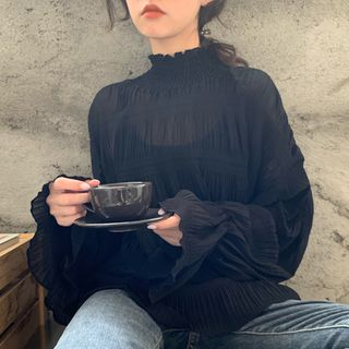 Turtleneck Long-Sleeve Blouse from OCTALE