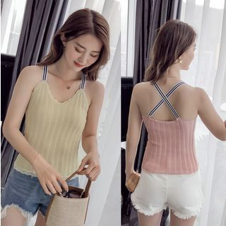 V-Neck Knitted Camisole Top from Oaksa
