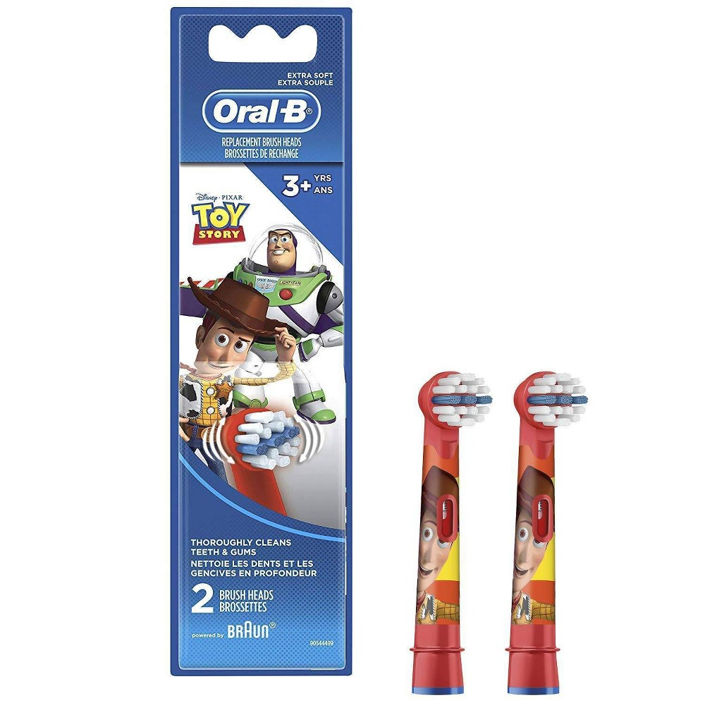 Oral-B Kids Extra Soft Replacement Brush Heads featuring Disney Pixar Toy Story - 2ct from Oral-B