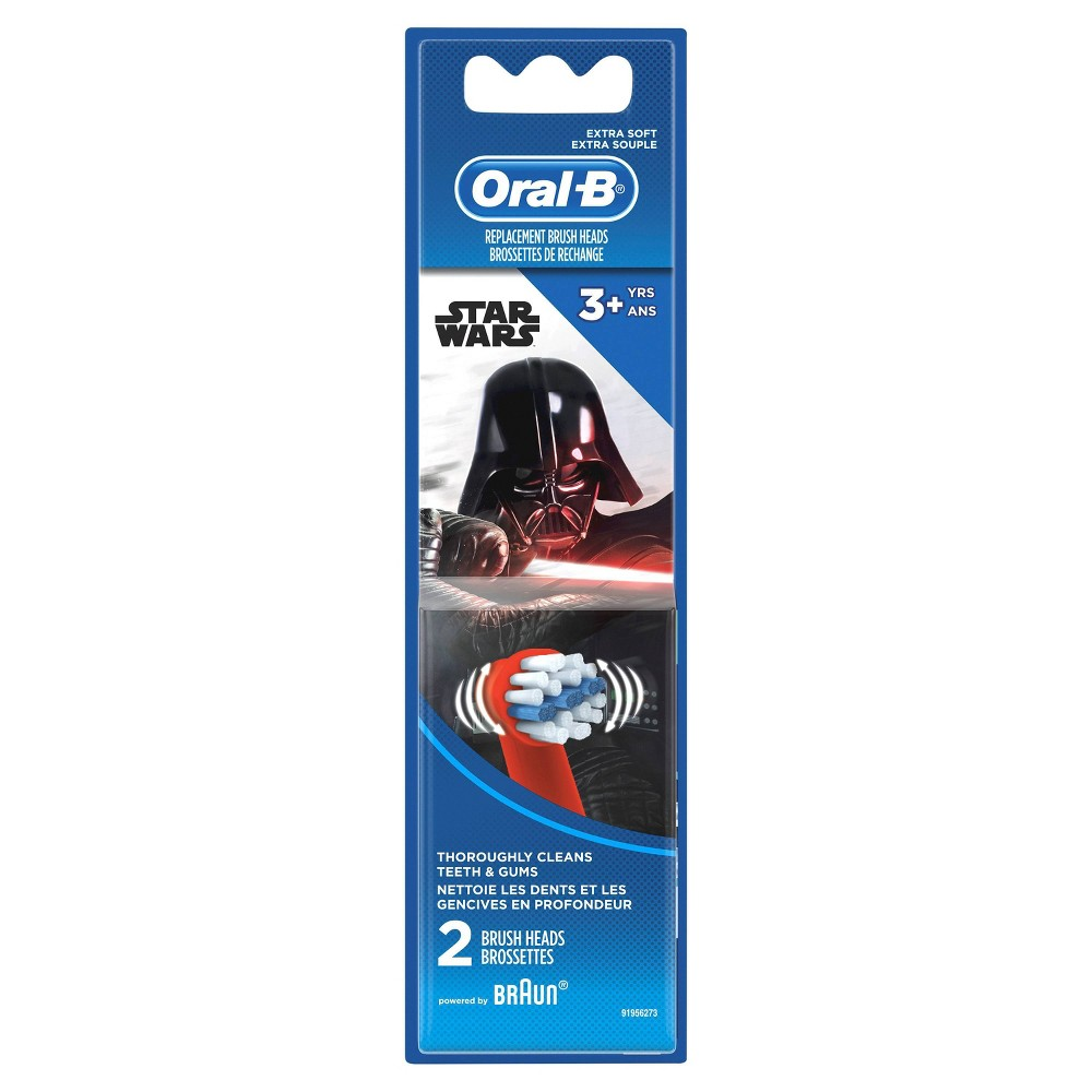 Oral-B Kids Extra Soft Replacement Brush Heads featuring STAR WARS - 2ct from Oral-B